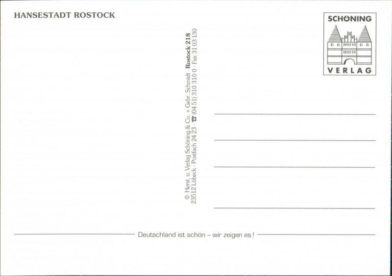 Ansichtskarte Rostock Luftbild Stadt, Hafen, Schiffe 1990 1