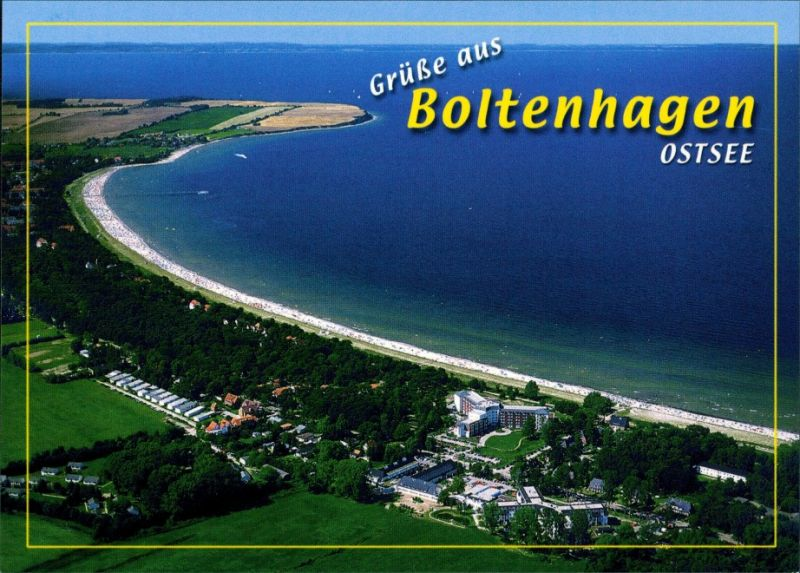 Ansichtskarte Boltenhagen Luftbild Hotelanlagen und Strand 1990 0