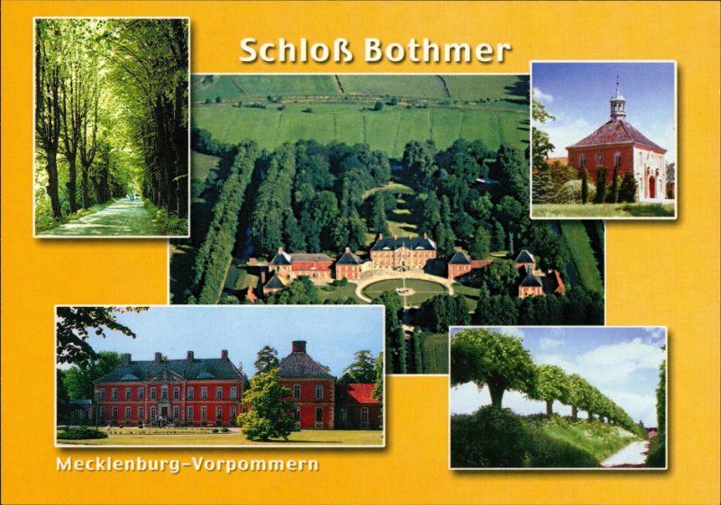 Ansichtskarte Klütz Schloss Bothmer, Luftbild, Allee, Details 1995 0