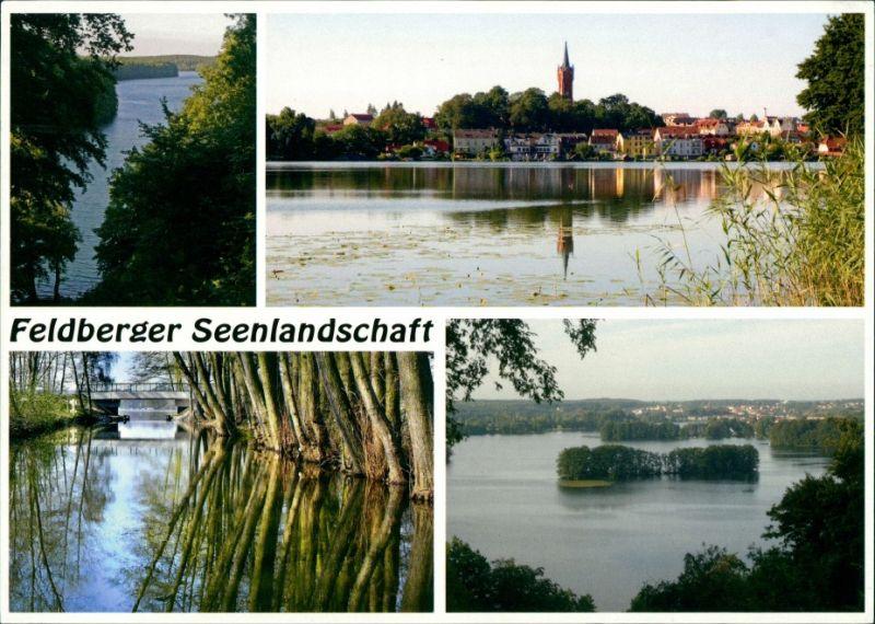 Feldberg-Feldberger Seenlandschaft Ansichten, See, Ortspartie, AK gelaufen 2005 0
