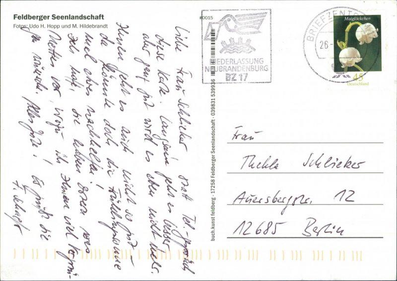Feldberg-Feldberger Seenlandschaft Ansichten, See, Ortspartie, AK gelaufen 2005 1