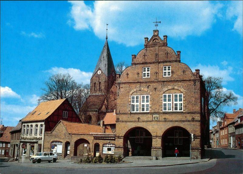 Ansichtskarte Gadebusch Markt und Rathaus 1990 0