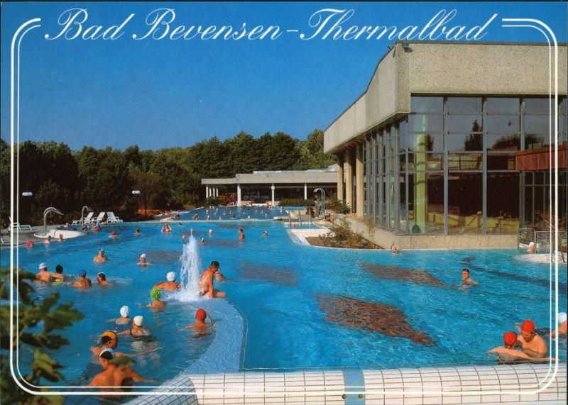 Ansichtskarte Bad Bevensen Thermalbad, Badegäste 1985 0