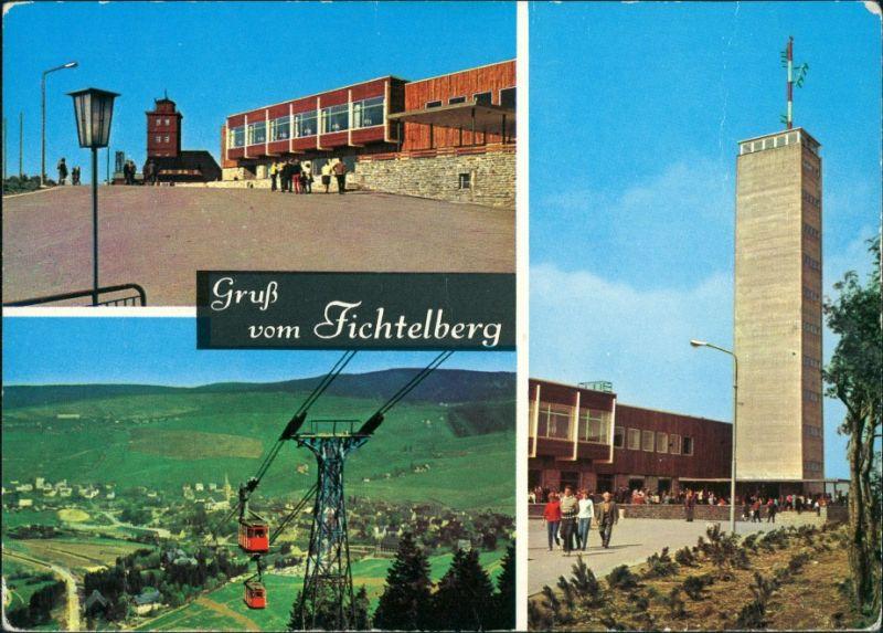 Cranzahl-Sehmatal Mehrbildkarte DDR Gruss vom Fichtelberg, Erzgebirge 1970 0