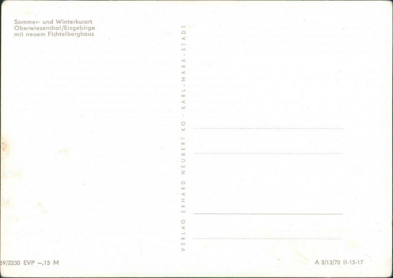 Cranzahl-Sehmatal Mehrbildkarte DDR Gruss vom Fichtelberg, Erzgebirge 1970 1