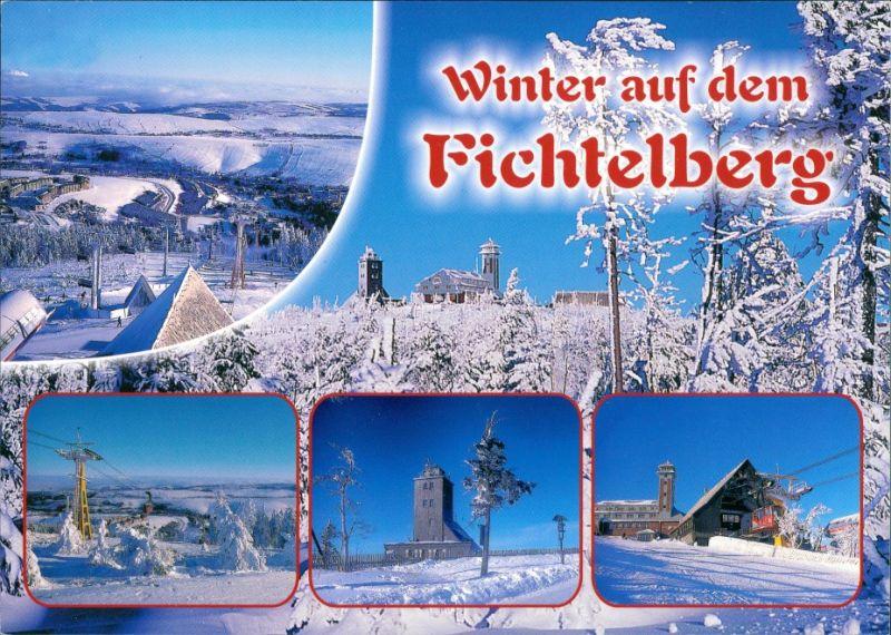 Oberwiesenthal Winter  Fichtelberg, Oberwiesenthal Panorama, Erzgebirge 2002 0