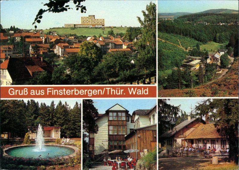 Finsterbergen-Friedrichroda Gruss aus Finsterbergen, Thüringer Wald  1988 0