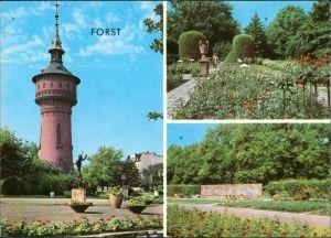 Forst (Lausitz) Baršć 1. Wasserturm, 2. u. 3. Rosengarten 1972/1973