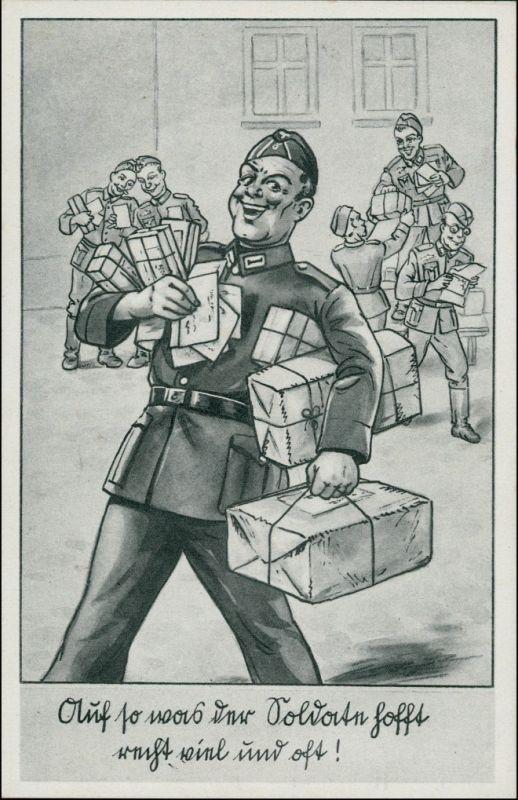 Wehrmacht Soldaten mit Geschenken, Paketen, Feldpost 2. Weltkrieg 1940