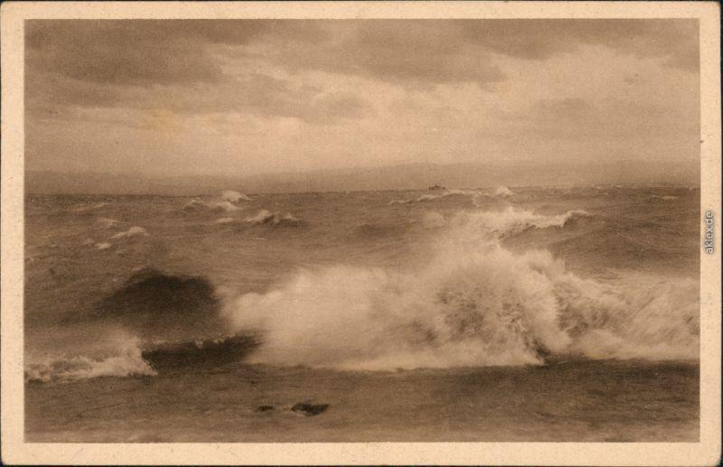 Ansichtskarte  Bodensee bei Sturm 1923