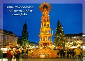 Ansichtskarte Dresden Dresdner Striezelmarkt, Weihnachten Grusskarte 2008