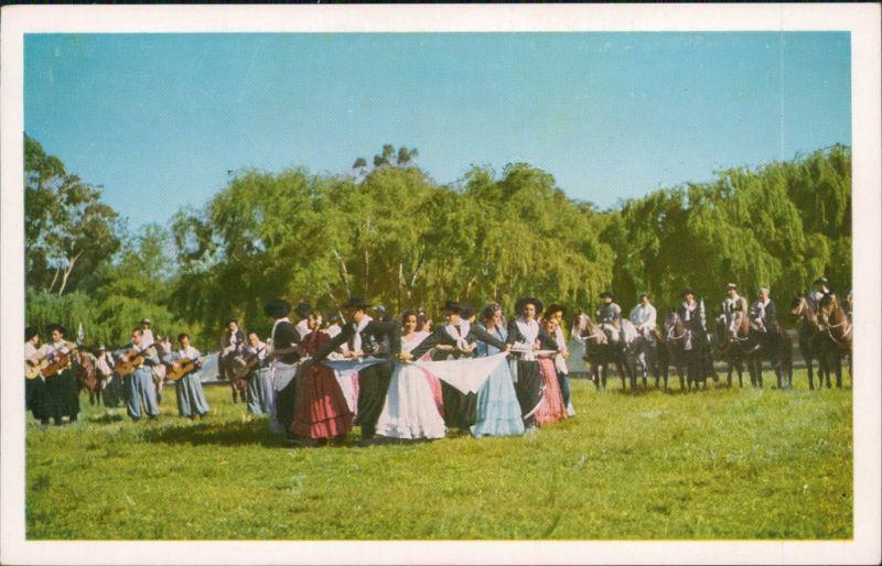 Postcard Montevideo Trachten - Typen 1965