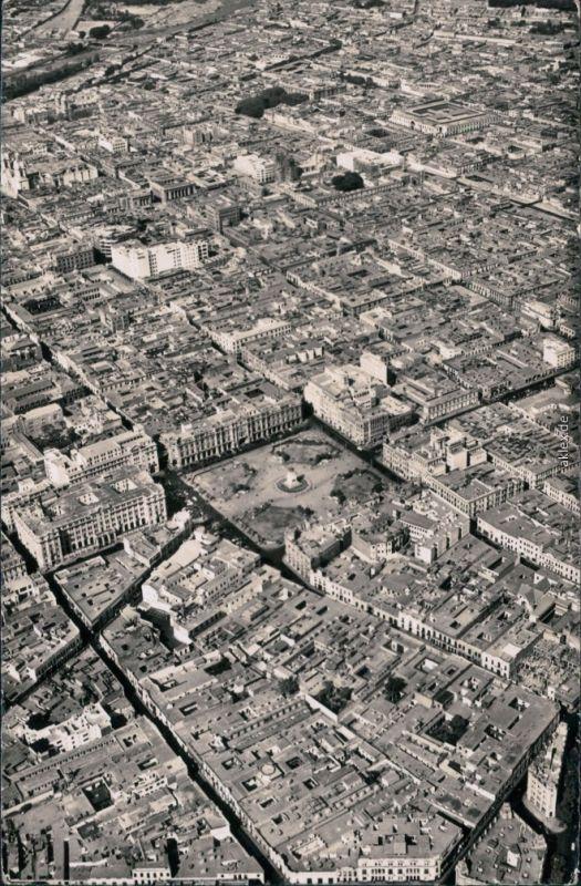 Postcard Lima Luftbild - Plaza San Martin 1965