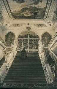Ansichtskarte Bad Tölz Heilige Stiege (Treppenhaus) Calvarienberg 1913