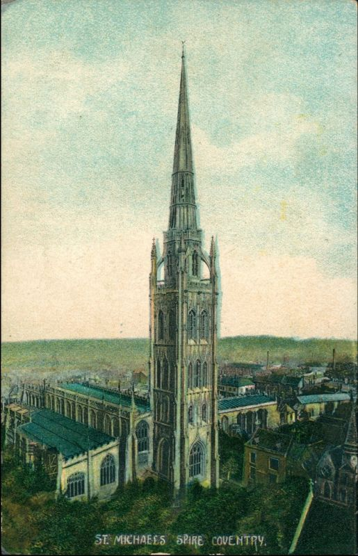 Postcard Coventry Blick über die Stadt 1911