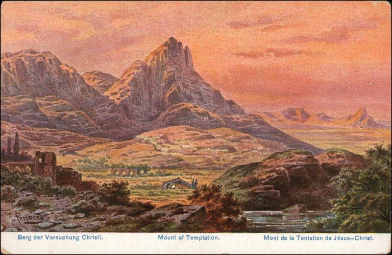 Jericho יְרִיחוֹ أريحا Berg der Versuchung - Palästina 1905