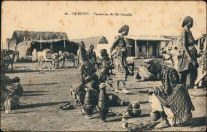 Postcard Dschibuti Djibouti Dorfpartie - Frauen 1913