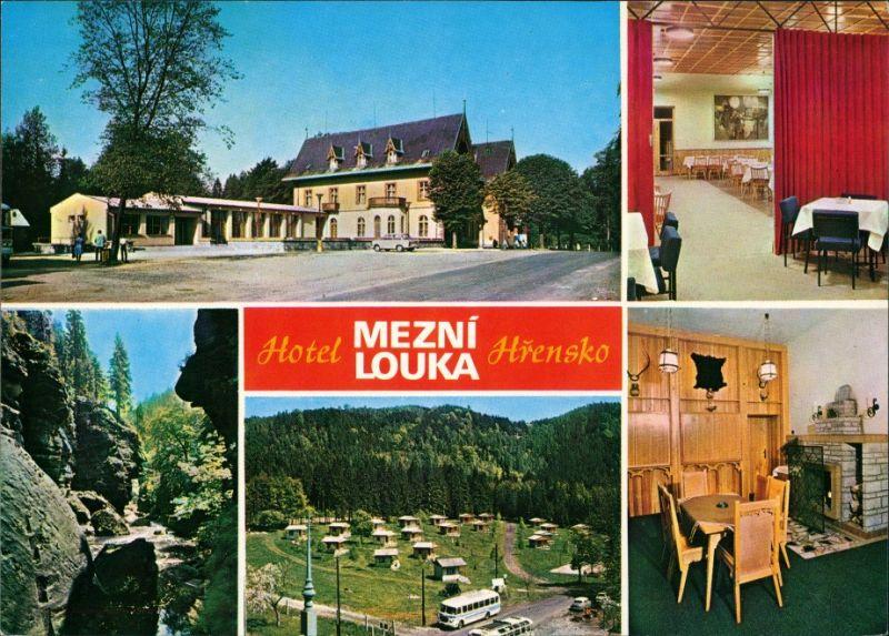 Herrnskretschen Hřensko Hotel Mezní louka Jídelna, Chatový tábor na Mezní louce