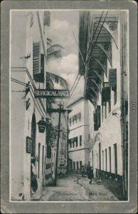Postcard Sansibar Zanzibar زنگبار Main Road 1918