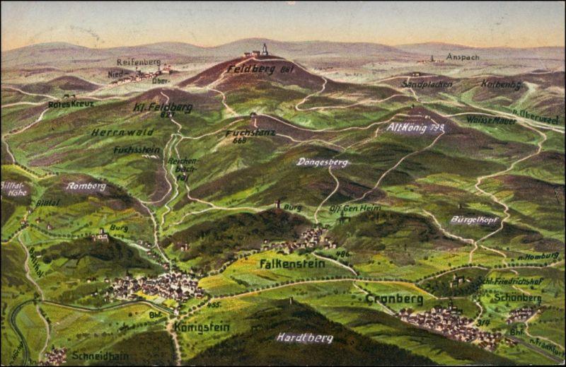 Ansichtskarte  Landkarten (Thüringer Wald) 1911 0