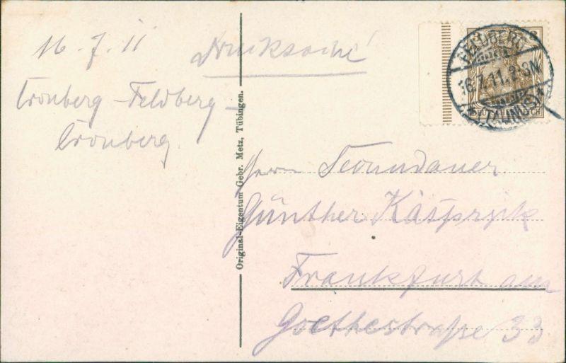 Ansichtskarte  Landkarten (Thüringer Wald) 1911 1