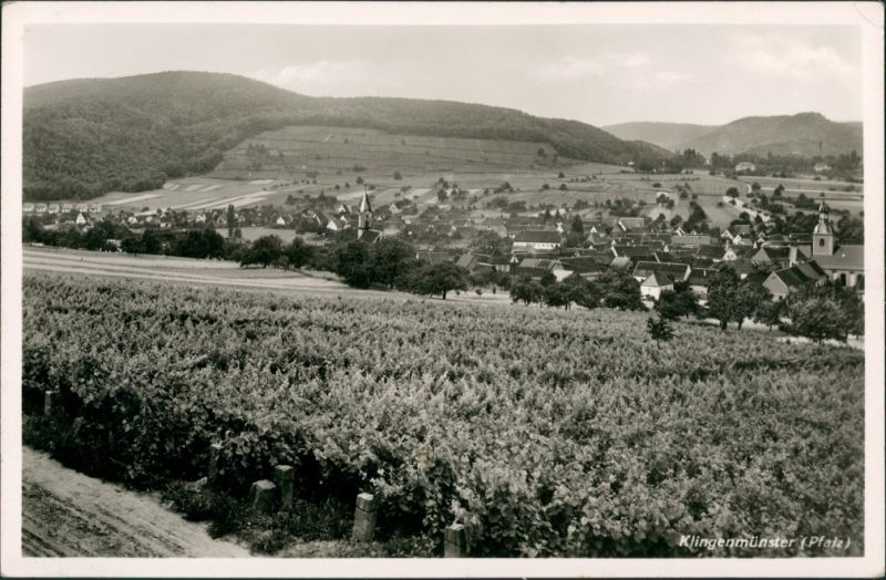 Klingenmünster Pfalz Dorf Ort a.d. deutschen Weinstrasse, Gesamtansicht 1932
