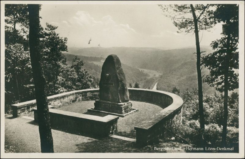 Müden (Örtze)-Faßberg Hermann-Löns-Denkmal, Bergisch-Land 1932