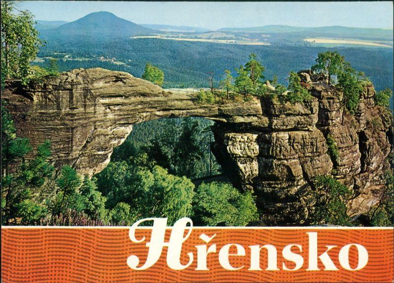 Postcard Tetschen-Bodenbach Decín Pravčicka brana/Prebischtor 1980