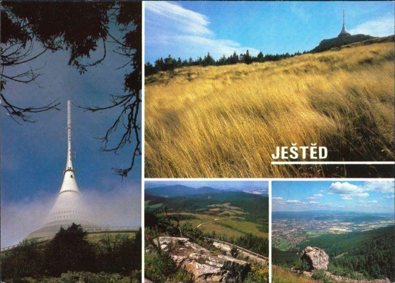 Reichenberg Liberec Ještěd/Jeschken, Turm, Wiesen, Ausblick 1985