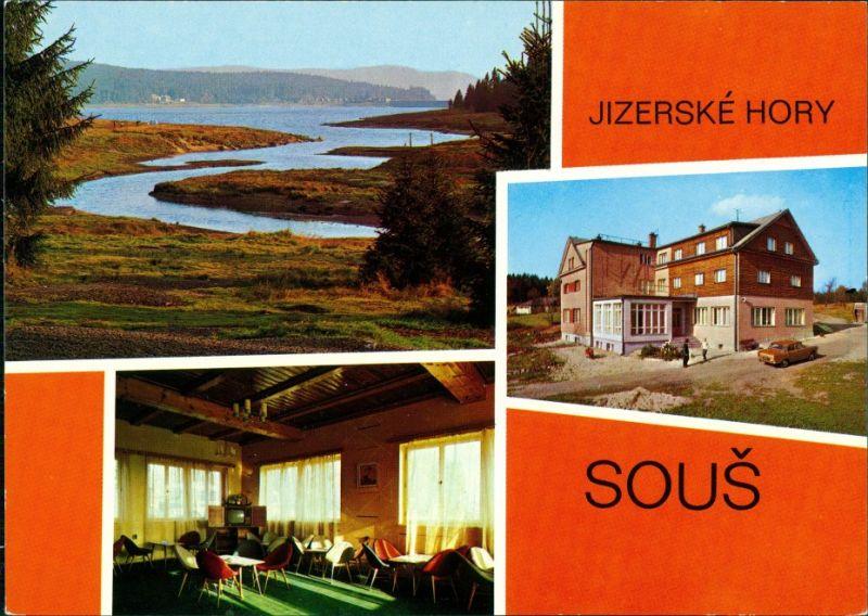 Dessendorf Desná JIZERSKÉ HORY SOUŠ Chata  přehradní nádrže na Černé Desné 1989