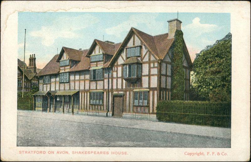 Stratford-upon-Avon Shakespeares House/Strassen Partie, Wohnhaus 1915