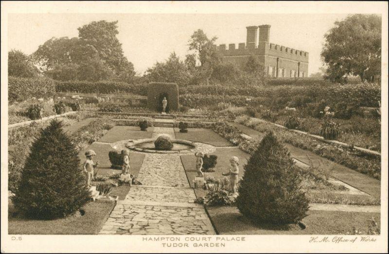Postcard London Tudor Garden/Park Anlage 1926