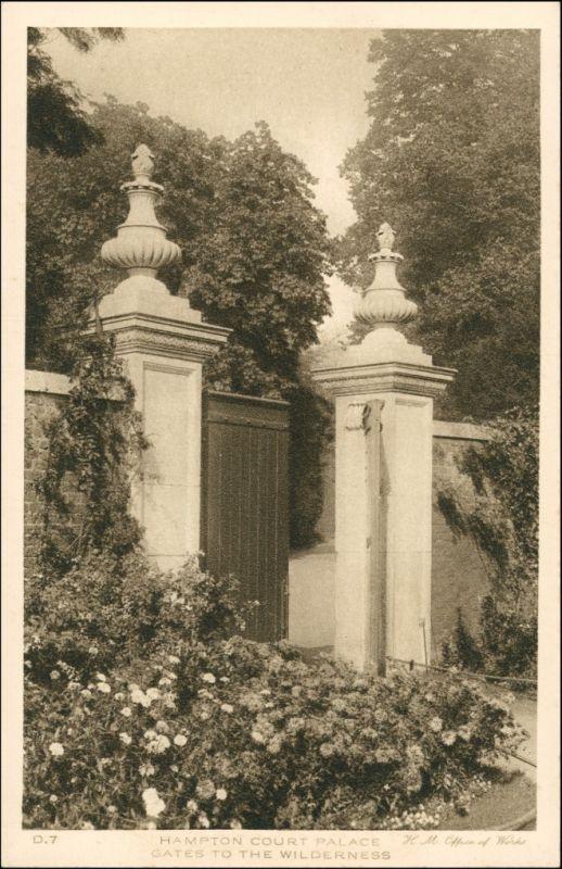 Postcard London Gates to the Wilderness 1927