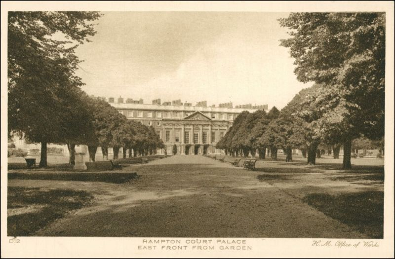 Postcard London East Front Buildings from Garden 1927
