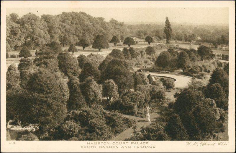 Postcard London South Garden and Terrace 1927