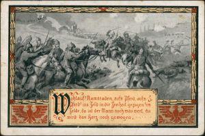 Ansichtskarte  Kavallerie, Soldaten zu Pferde, Militaria 1920 Gelaufen mit Stempel von BRESLAU