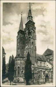 Ansichtskarte Nürnberg Sebalduskirche/St. Sebald 1935