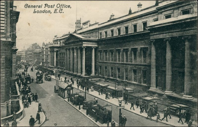 London General Post Office, Street View Building/Postgebäude 1911