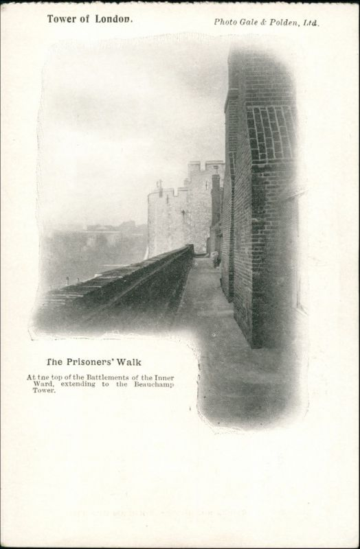 Postcard London The Prisoner`s Walk/Tower of London 1927