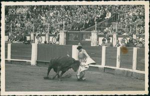 Foto  Stierkampf Arena, Echtfoto-Postkarte 1935 Privatfoto