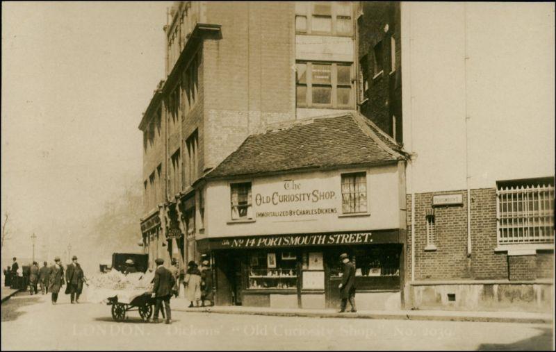 Postcard London The Old Curiosity Shop Building 1910