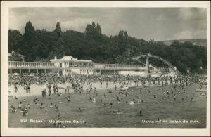 Warna Варна Strand, Trubel mit Badegästen 1956