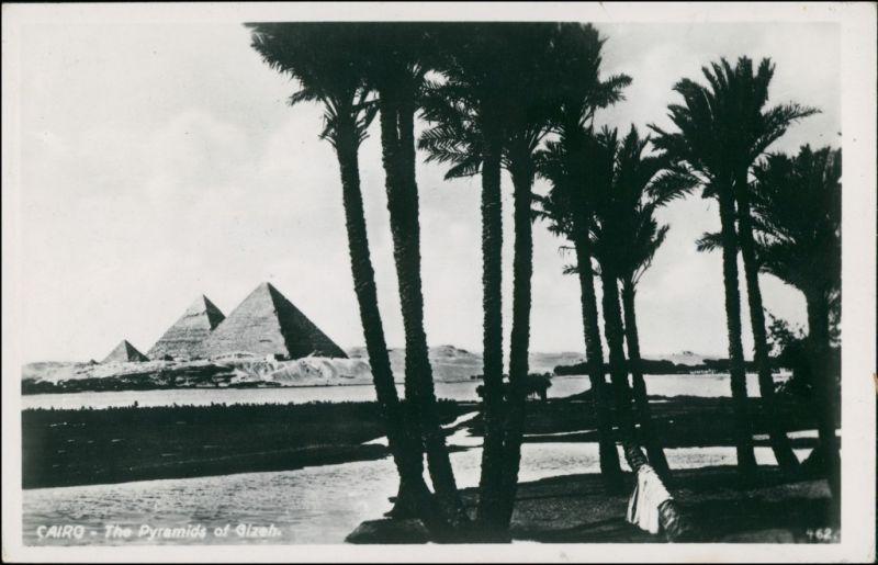 Kairo القاهرة Ägypten - Kairo - Kairo, Blick Pyramiden, Gizeh 1950