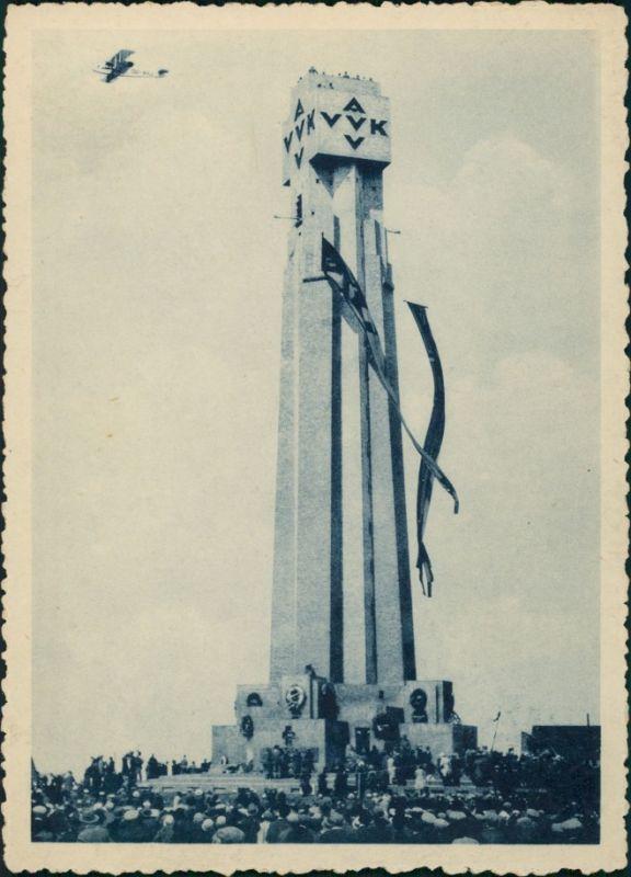 Diksmuide Dixmude Inhuldiging van den Iyzertoren  Einweihung des Yser-Turm 1930