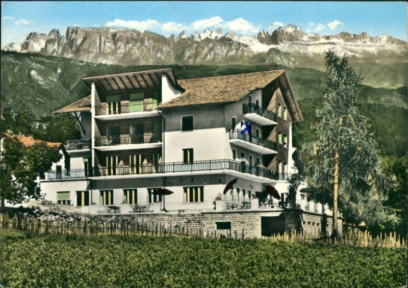 Cartoline Bozen Bolzano Hotel Paradiso Sole, Sonnenparadies 1960