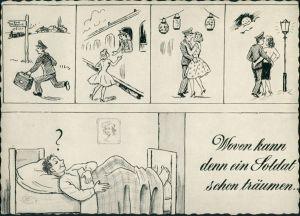 Ansichtskarte  Militär/Propaganda - Soldatenleben, Träume von Soldaten 1960