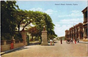 Postcard Colombo Queen´s Street 1918