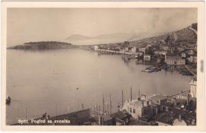 Split Split Pogled sa zvonika Hafen Postcard Foto Ansichtskarte 1928