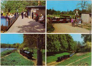 Leipzig Parkeisenbahn Pioniereisenbahn Auensee Ansichtskarte   1976