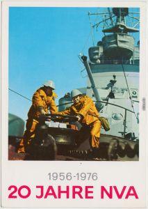 DDR Nationale Volksarmee 20 Jahre NVA Marine Schiff  1975